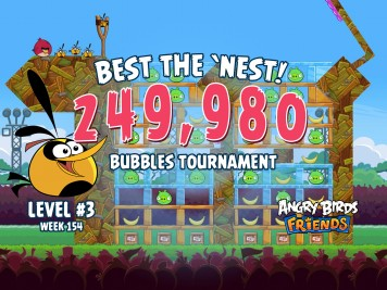 Angry Birds Friends Best the Nest Week 154 Level 3