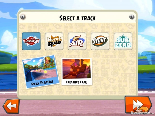 Angry Birds GO Party Mode Local Multiplayer Select a Track