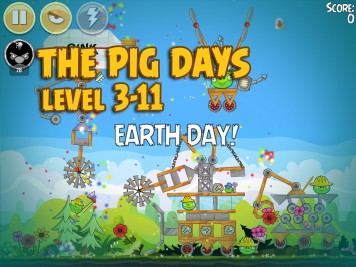 Angry Birds Seasons The Pig Days Level 3-11