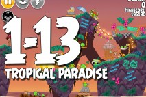 Angry Birds Seasons Tropigal Paradise Level 1-13 Walkthrough