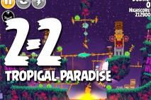 Angry Birds Seasons Tropigal Paradise Level 2-2 Walkthrough