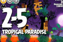 Angry Birds Seasons Tropigal Paradise Level 2-5 Walkthrough