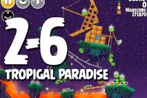 Angry Birds Seasons Tropigal Paradise Level 2-6 Walkthrough