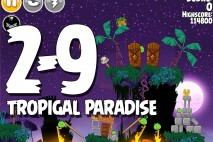 Angry Birds Seasons Tropigal Paradise Level 2-9 Walkthrough