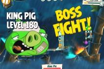 Angry Birds Under Pigstruction King Pig Level 180 Boss Fight Walkthrough