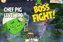 Angry Birds Under Pigstruction Chef Pig Level 190 Boss Fight Walkthrough