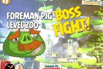 Angry Birds Under Pigstruction Foreman Pig Level 200 Boss Fight Walkthrough