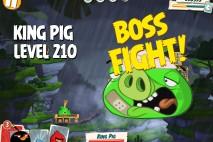 Angry Birds Under Pigstruction King Pig Level 210 Boss Fight Walkthrough