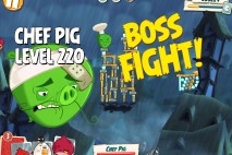 Angry Birds Under Pigstruction Chef Pig Level 220 Boss Fight Walkthrough