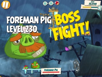 Angry Birds Under Pigstruction Boss Fight 23 Level 230