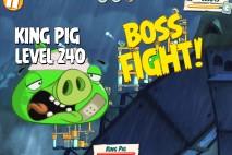 Angry Birds Under Pigstruction King Pig Level 240 Boss Fight Walkthrough