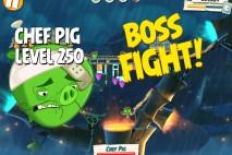 Angry Birds Under Pigstruction Chef Pig Level 250 Boss Fight Walkthrough