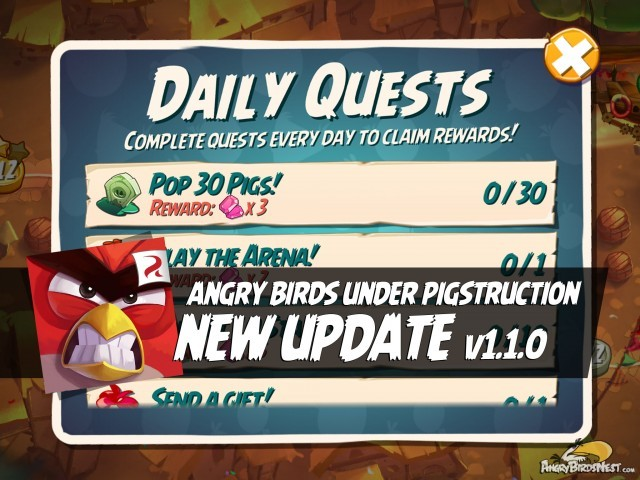 Angry Birds Under Pigstruction v110 Update Featured Image