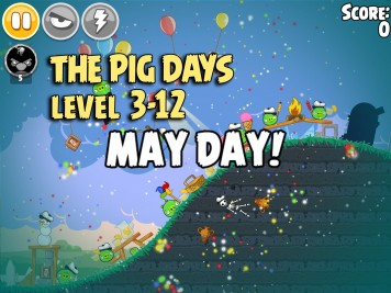 Angry Birds Seasons The Pig Days Level 3-12