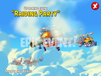 Angry Birds Epic Event Raiding Party August 2015