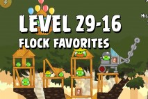 Angry Birds Flock Favorites Level 29-16 Walkthrough