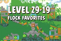 Angry Birds Flock Favorites Level 29-19 Walkthrough