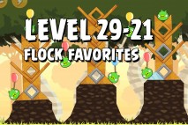 Angry Birds Flock Favorites Level 29-21 Walkthrough