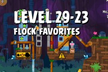 Angry Birds Flock Favorites Level 29-23 Walkthrough