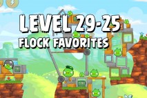 Angry Birds Flock Favorites Level 29-25 Walkthrough