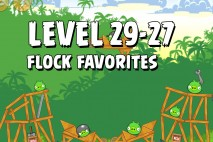Angry Birds Flock Favorites Level 29-27 Walkthrough