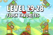 Angry Birds Flock Favorites Level 29-28 Walkthrough