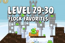 Angry Birds Flock Favorites Level 29-30 Walkthrough