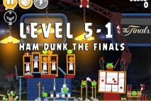 Angry Birds Seasons Ham Dunk Level 5-1 Walkthrough