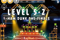 Angry Birds Seasons Ham Dunk Level 5-2 Walkthrough