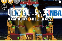Angry Birds Seasons Ham Dunk Level 5-3 Walkthrough