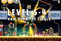 Angry Birds Seasons Ham Dunk Level 5-4 Walkthrough