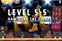 Angry Birds Seasons Ham Dunk Level 5-5 Walkthrough