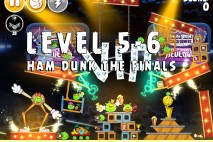 Angry Birds Seasons Ham Dunk Level 5-6 Walkthrough