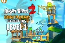 Angry Birds 2 Level 1 Cobalt Plateaus – Feathery Hills 3-Star Walkthrough