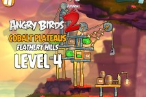Angry Birds 2 Level 4 Cobalt Plateaus – Feathery Hills 3-Star Walkthrough