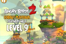 Angry Birds 2 Level 9 Cobalt Plateaus – Feathery Hills 3-Star Walkthrough