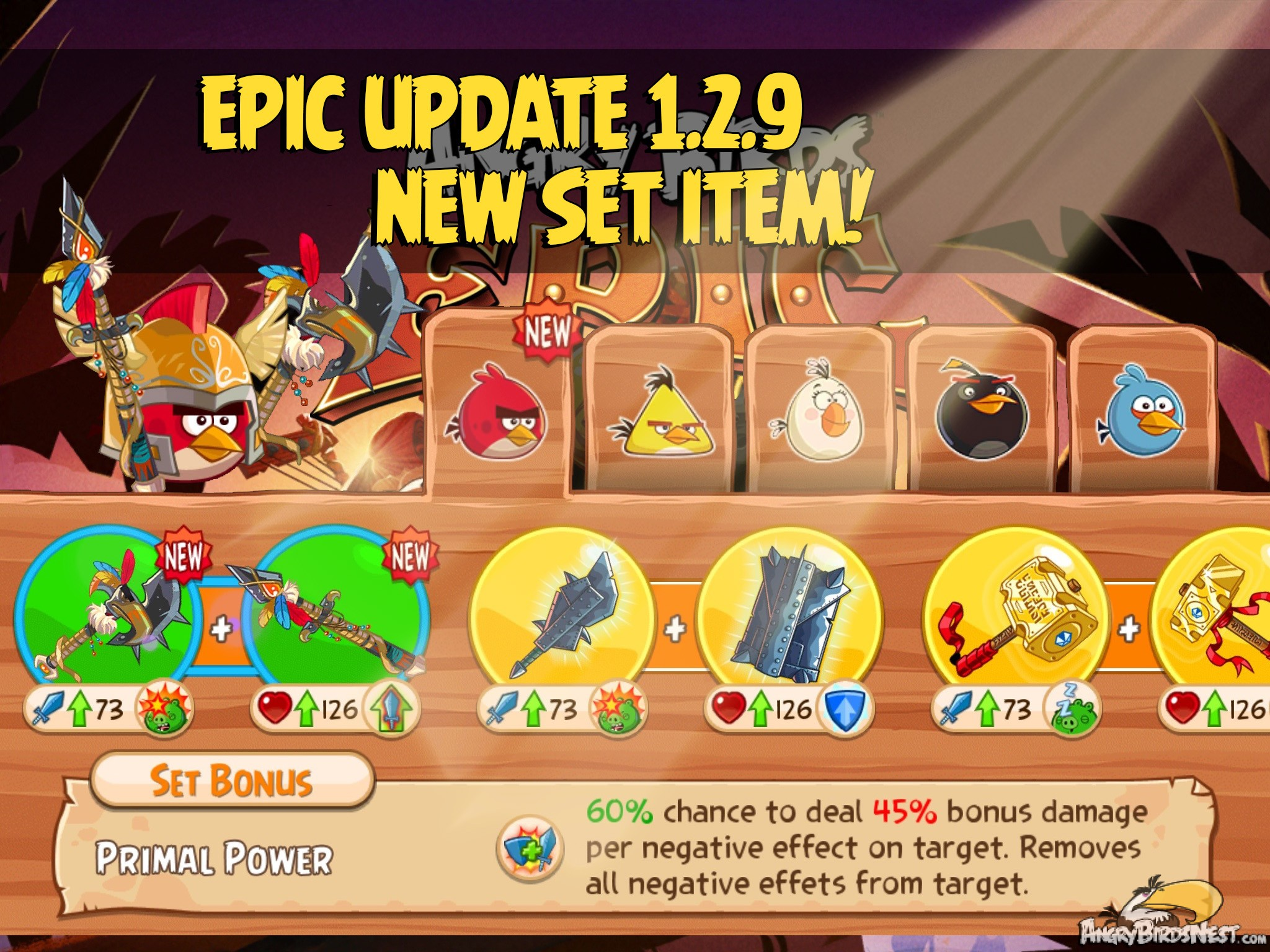 Angry Birds Epic v1.2.9 Update Adds New Set Item, Daily ...
