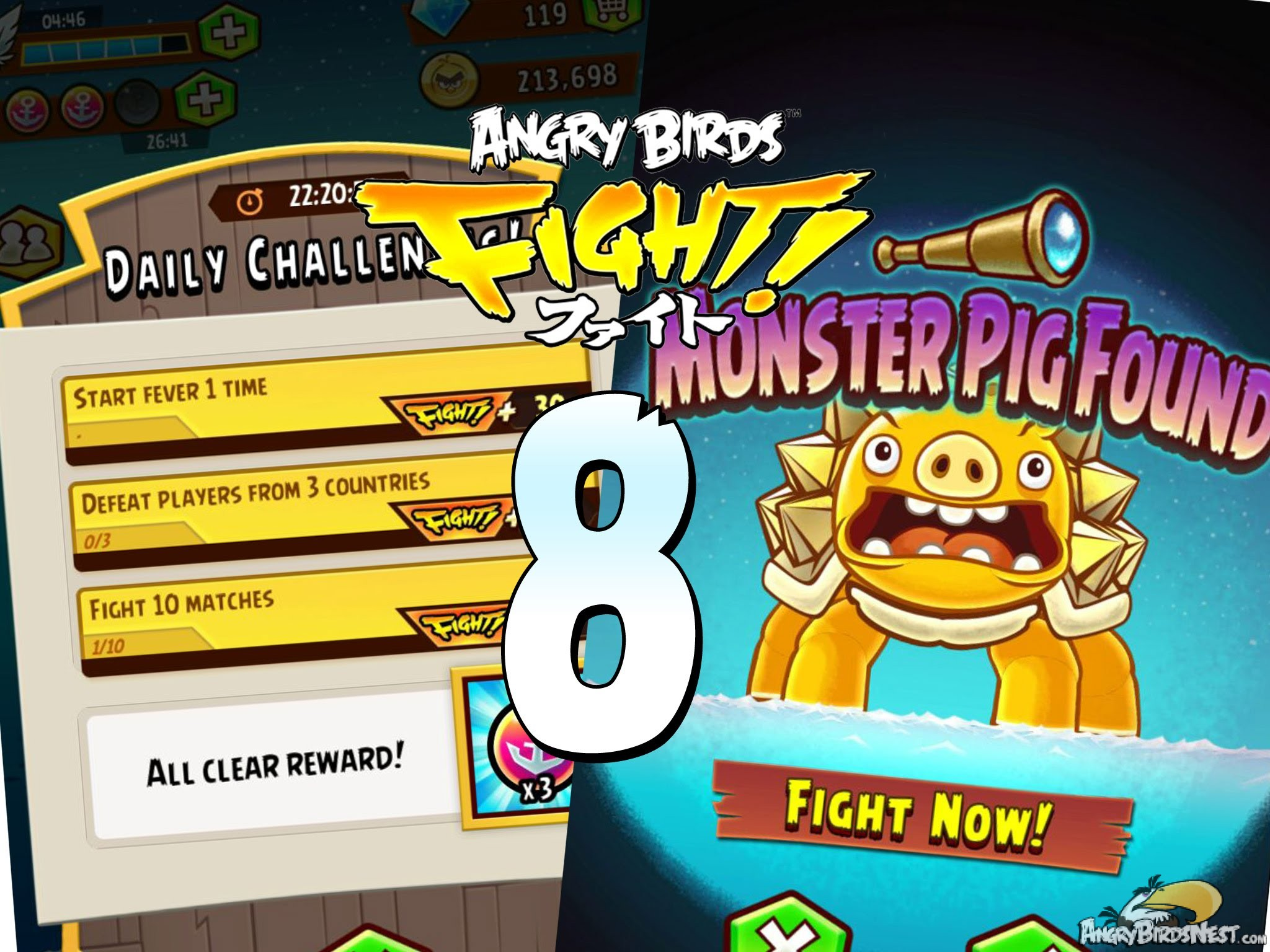 angry birds fight u2013 daily challenges and super monster pig u2013 part