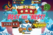 Angry Birds Fight! – Snow Island 8-9 Complete with 3 Stars
