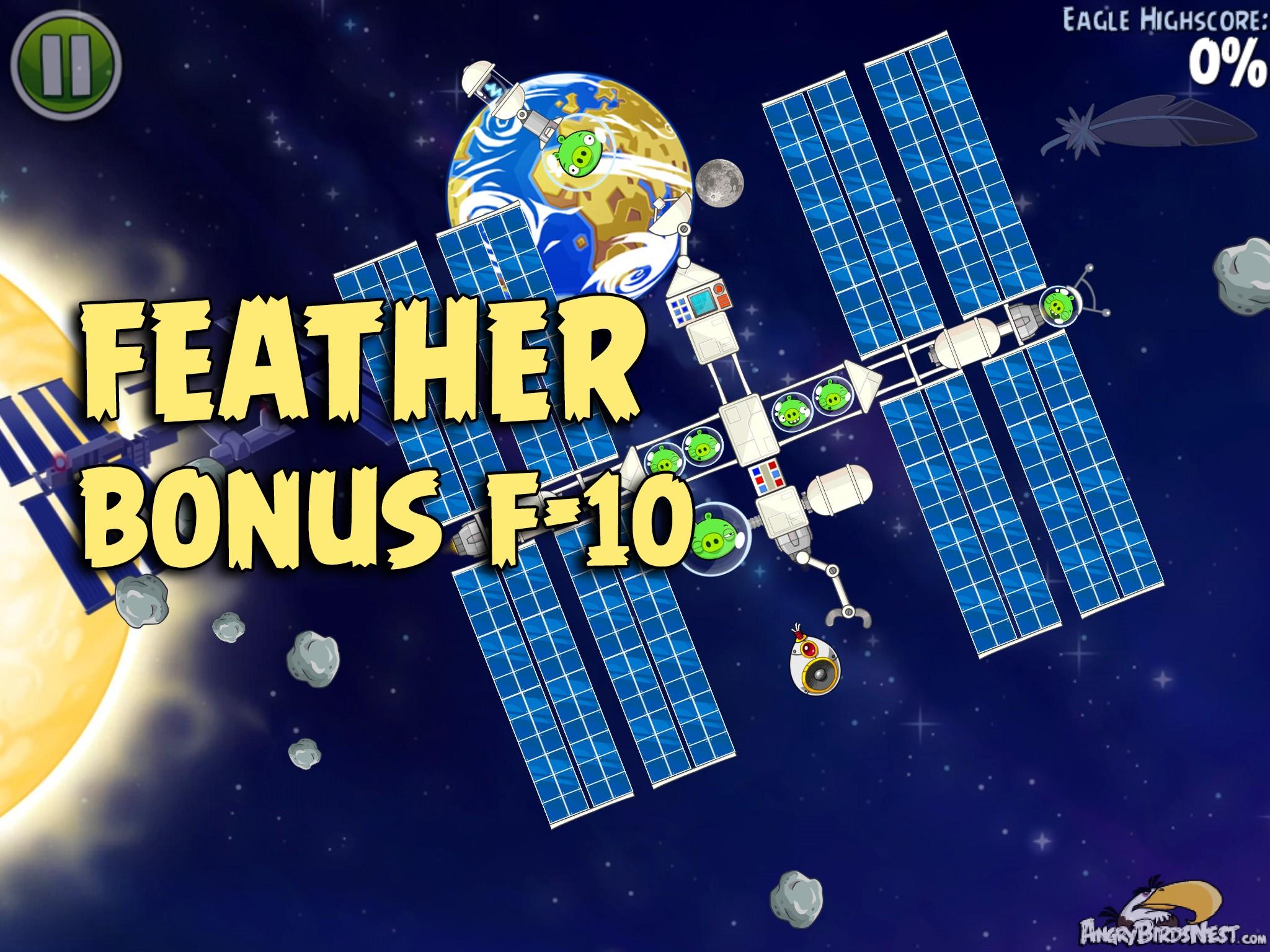 Angry Birds Space Solar System Bonus Level F-10 Walkthrough ...