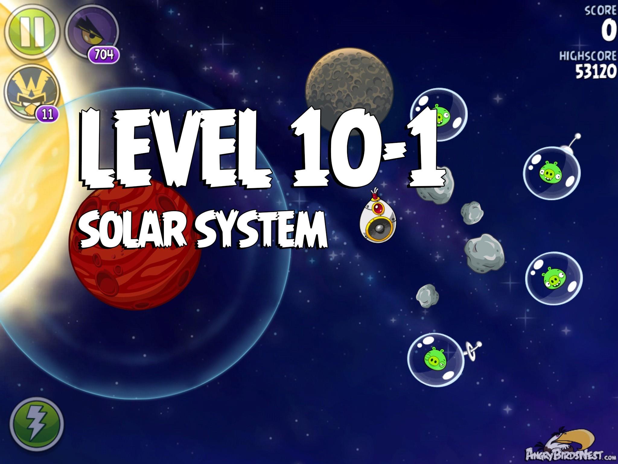 Angry Birds Space Solar System Level 10-1 Walkthrough ...