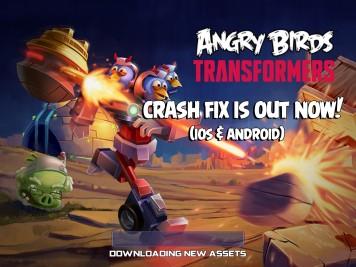 Angry Birds Transformers Crash Fix Update