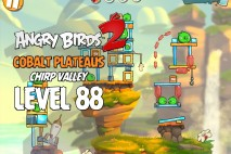 Angry Birds 2 Level 88 Cobalt Plateaus – Chirp Valley 3-Star Walkthrough