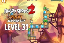 Angry Birds 2 Level 31 Pig City – New Pork City 3-Star Walkthrough