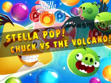 Angry Birds Stella Pop Chuck vs The Volcano Feature Image