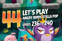 Angry Birds Stella Pop Levels 236 to 240 Secret Lagoon Walkthroughs
