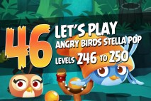 Angry Birds Stella Pop Levels 246 to 250 Secret Lagoon Walkthroughs