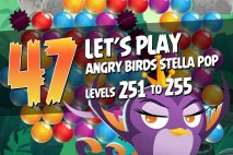 Angry Birds Stella Pop Levels 251 to 255 Secret Lagoon Walkthroughs