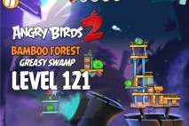 Angry Birds 2 Level 121 Bamboo Forest – Greasy Swamp 3-Star Walkthrough