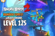 Angry Birds 2 Level 125 Bamboo Forest – Greasy Swamp 3-Star Walkthrough